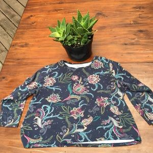 Croft & barrow paisley long sleeve sz XL